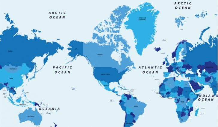 How Many Oceans In The World