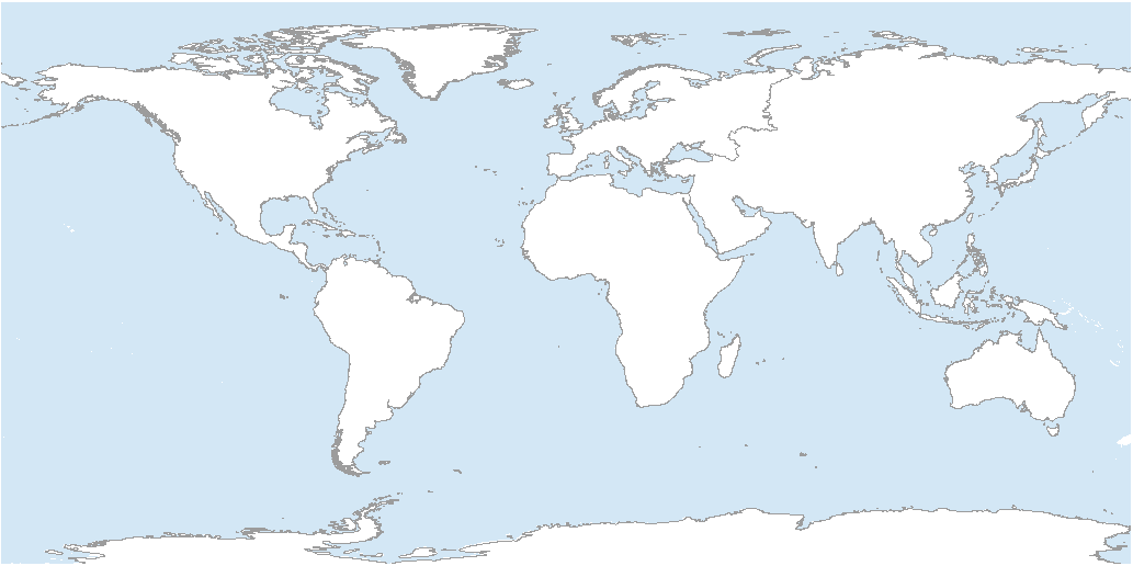 Blank Map of World Continents