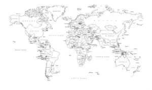 Labelled World Map Printable