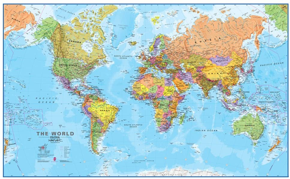 Large Printable World Map For Kids