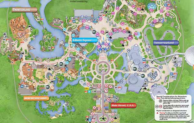 Printable Map of Disney World