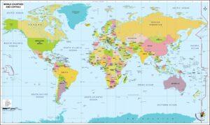 Printable World Map Pdf
