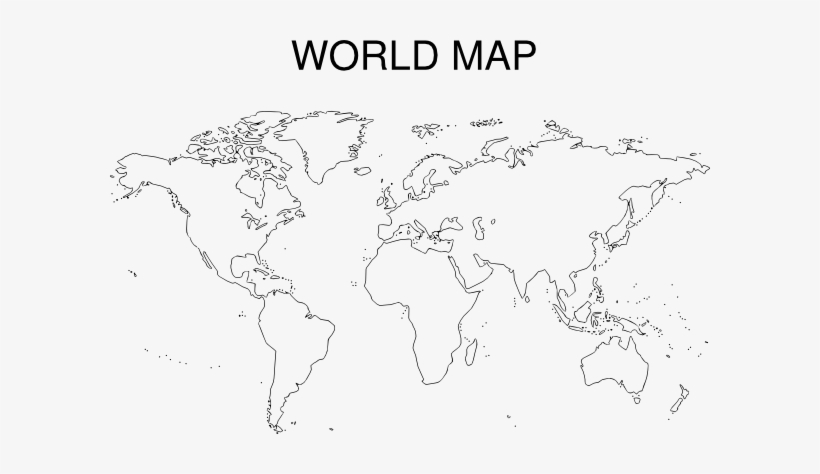 World Map Black And White Printable