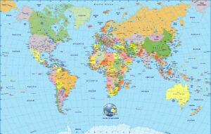World Map HD Printable PDF