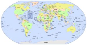 World Map Labeled With Countries