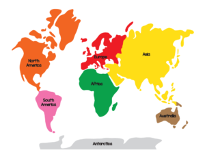 7 Continents Map