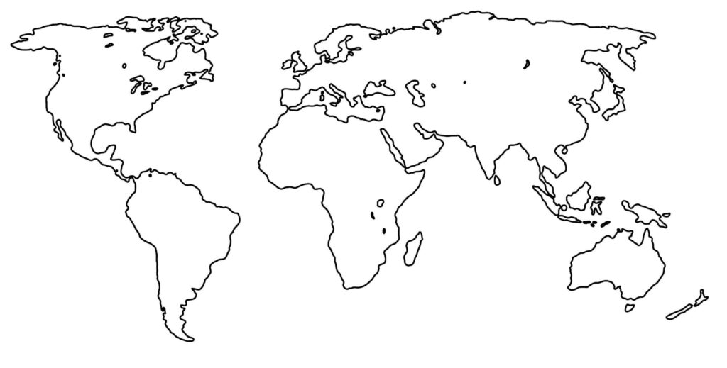 Outline Map of World PDF