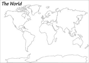Outline Map of World Political