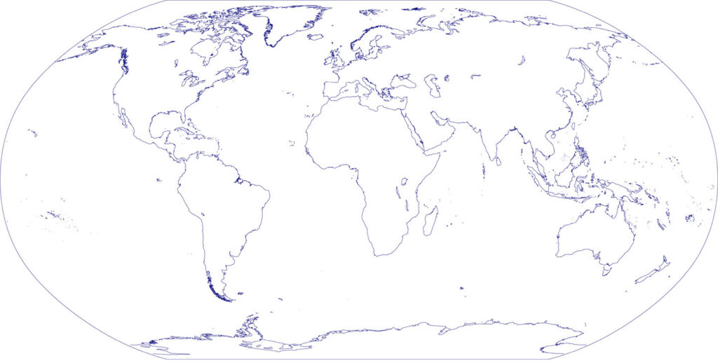 Outline Map of World With Continents