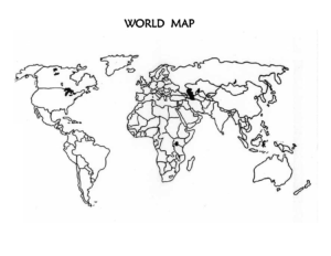 Printable Outline Map of World With Countries