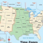 Printable Time Zone Map With State Name