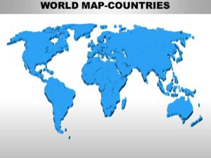 World Map With Continents and Countries
