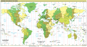 World Time Zones Map PDF