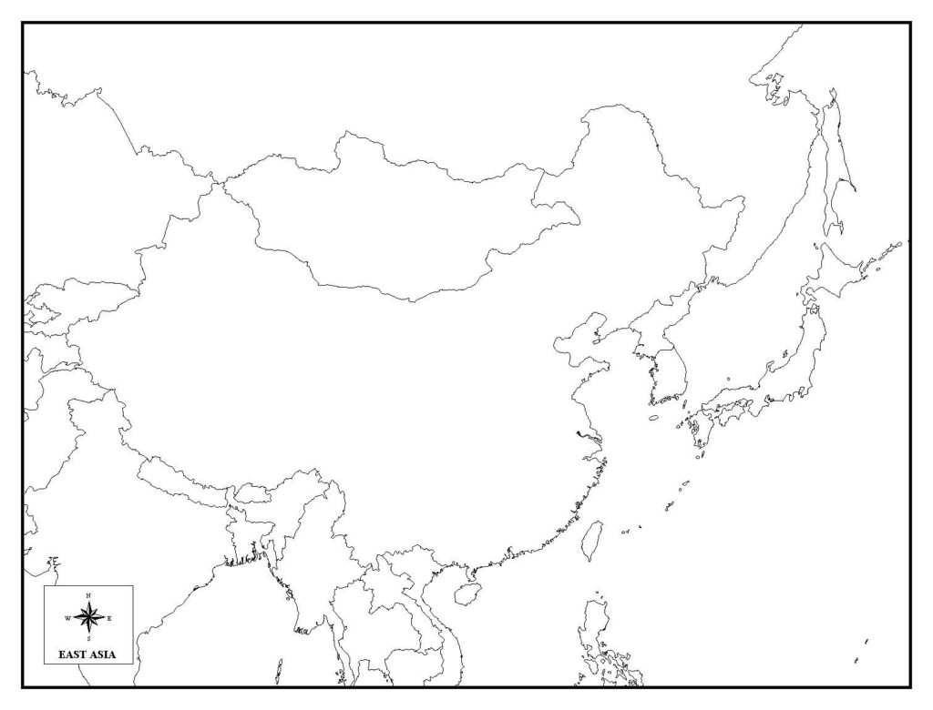 Blank Map of Asia Quiz