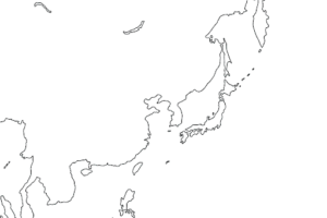 East Asia Blank Map