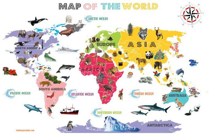 Interactive World Map For Kids