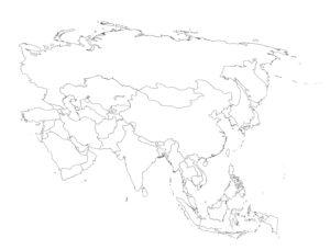 Asia Political Map Printable