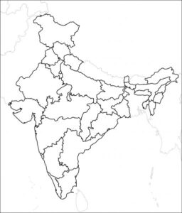 Blank Printable Map of India