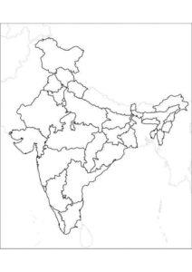 Blank Printable Map of India pdf