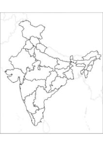 Blank Printable Map of India pdf