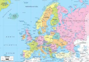 Detailed Map of Europe with Cities pdf