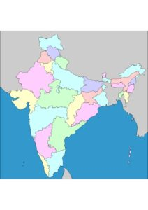 India Map With States and Capitals pdf