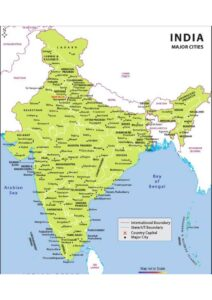 Labeled India Map with Cities pdf