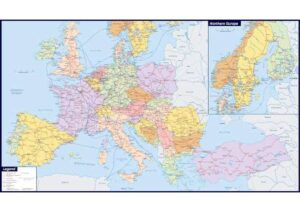Large Map of Europe with Cities and Towns pdf