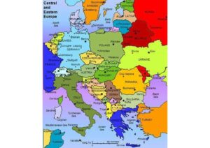 Map of Eastern Europe with Major Cities pdf