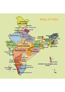 Map of India With States and Cities pdf
