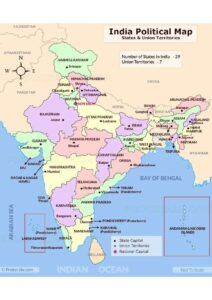 Map of India with States pdf