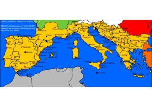 Map of Southern Europe with Citie pdf