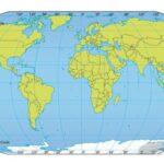 Map of World with Coordinates