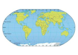 Map of World with Coordinates pdf