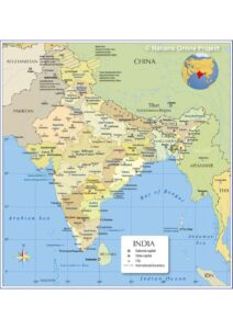 Political Map of India pdf