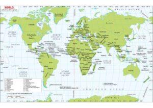 World Map With Latitude and Longitude Coordinates pdf