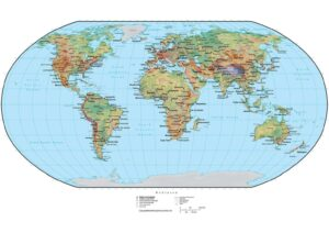 World Map with Coordinates and Countries pdf
