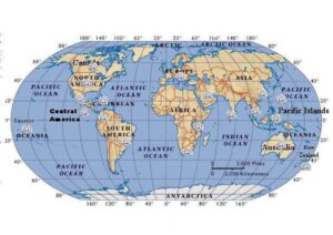 World Map with Coordinates pdf