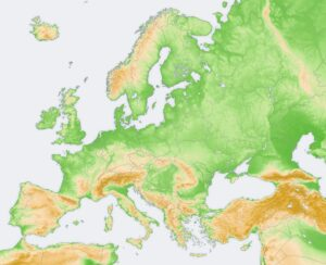Geographical Map Of Europe