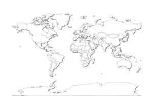 Political World Map In PDF