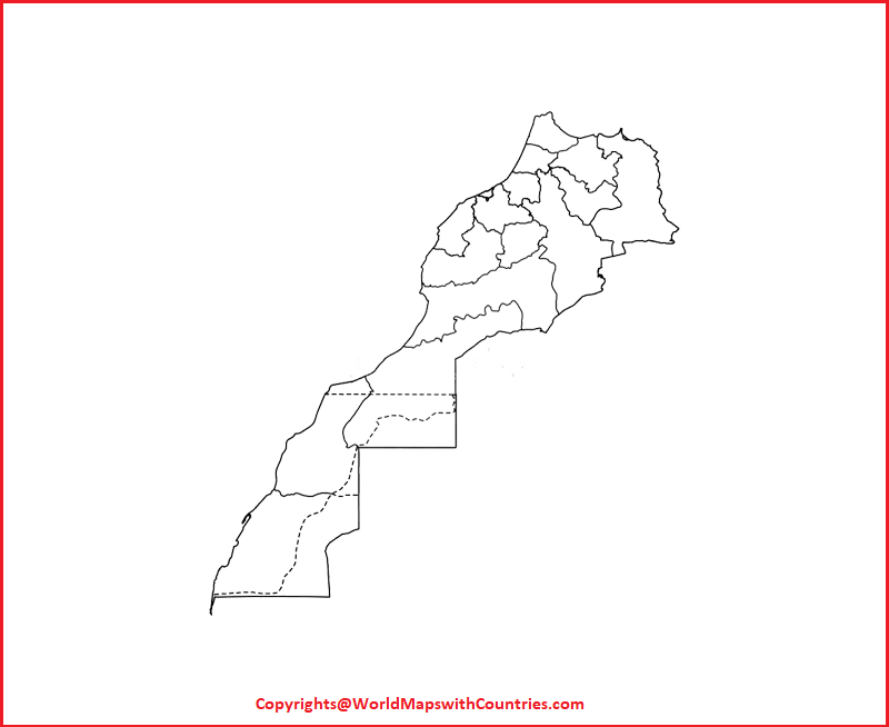 Blank Map of Morocco