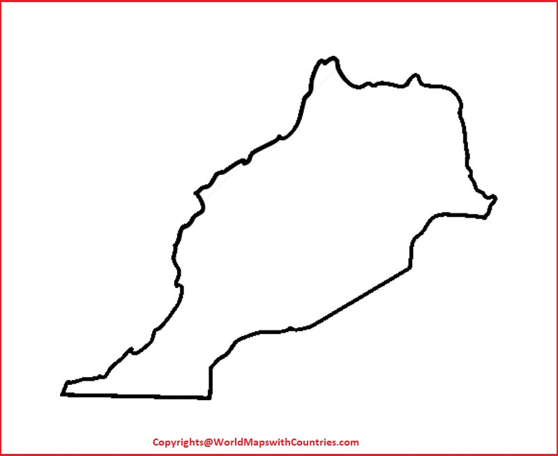 Detailed Map of Morocco