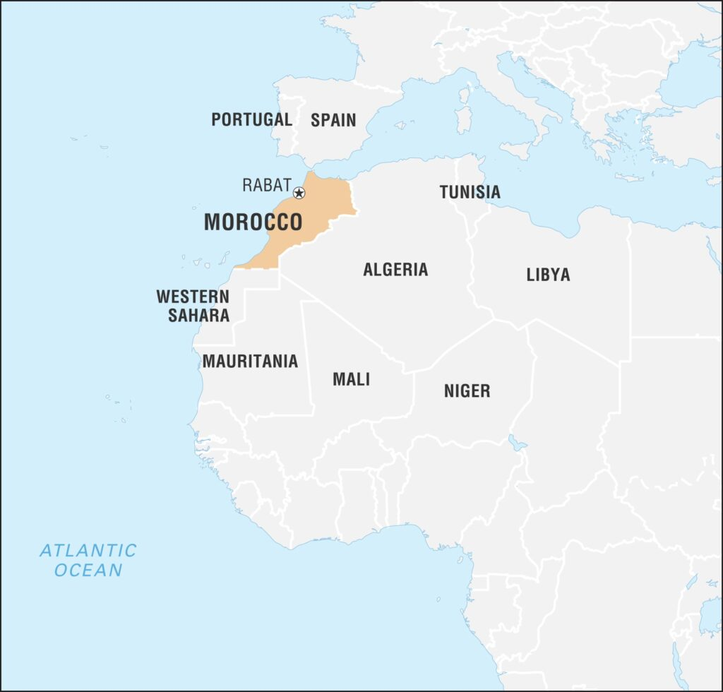 Map of Casablanca Morocco
