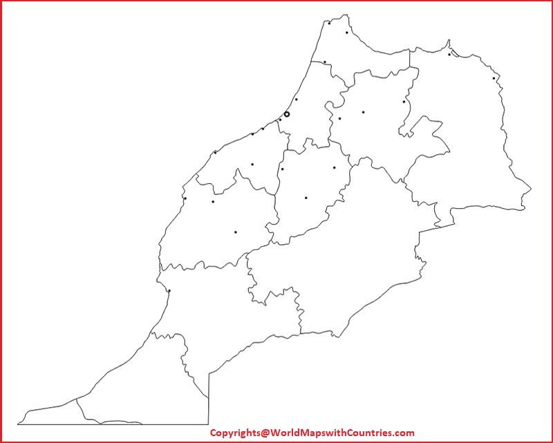 Morocco Printable Map