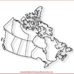 Outline Blank Map of Canada