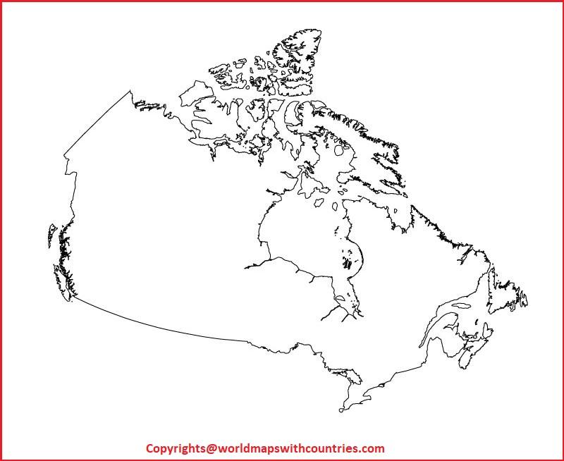 Transparent PNG Canada Map