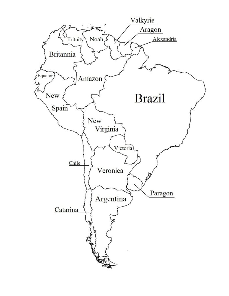 Labeled Map of South America